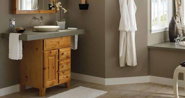 Bộ tủ chậu được thiết kế theo yêu cầu của Inax có thiết kế tinh tế