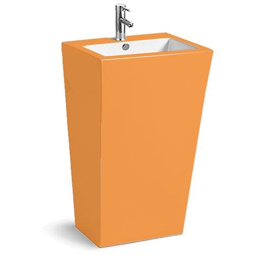 Chậu rửa mặt lavabo chân đứng C3964-Orange màu cam