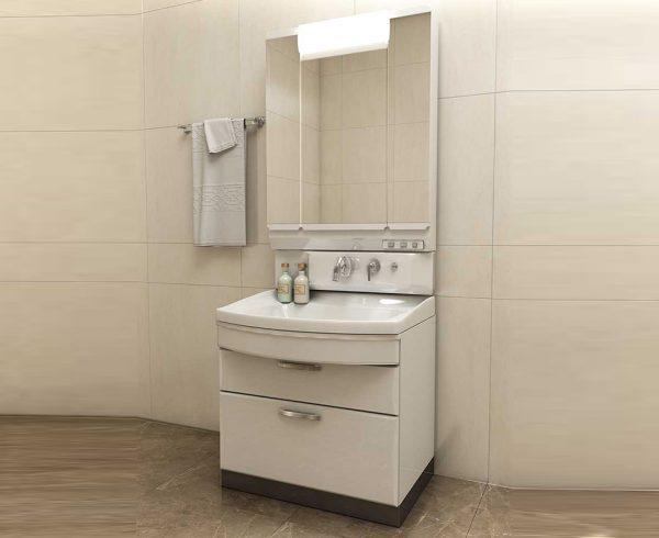 Chậu rửa mặt có tủ nguyên khối đa năng mang lại sự sang trọng cho căn phòng