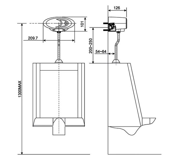 Van xả tiểu cảm ứng American WF-8009 (Pin)