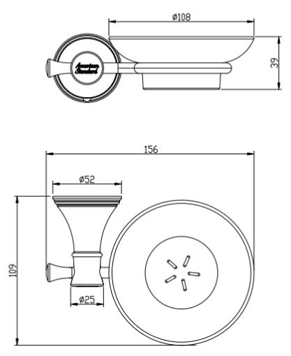 Đĩa đựng xà phòng American WF-0282