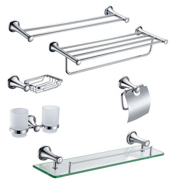 Phụ kiện inox được sử dụng cho diện tích phòng tắm nhỏ, hẹp