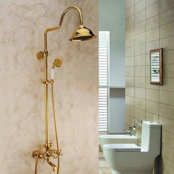 Sen tắm mạ vàng phù hợp với những không gian phòng tắm có phong cách cổ điển, sang trọng, hiện đại và kiêu sa