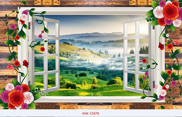 Gạch tranh cửa sổ Anh Khang ANK-CS678