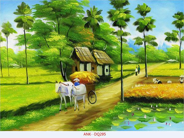 Gạch tranh cánh đồng Anh Khang ANK-DQ295