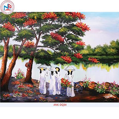 Gạch tranh cánh đồng Anh Khang ANK-DQ394