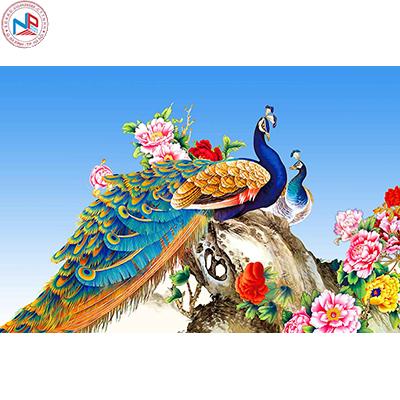Gạch tranh chim công Anh Khang ANK-C14