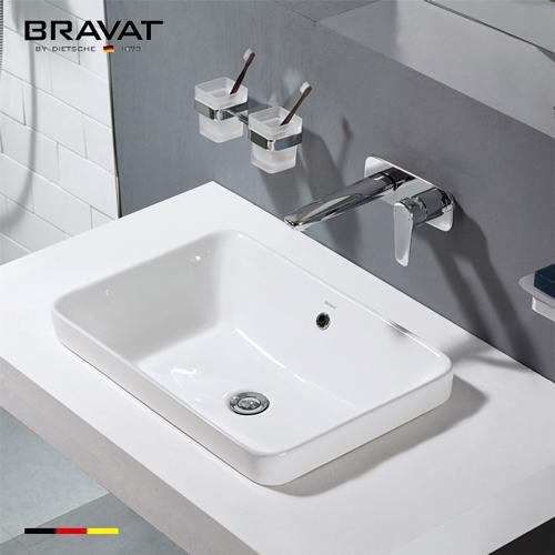 Chậu rửa lavabo Bravat C22206W-ENG đặt bàn