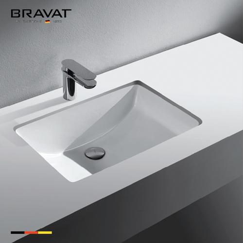 Chậu rửa lavabo Bravat C22212W-ENG âm bàn