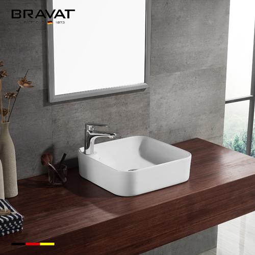Chậu rửa lavabo Bravat C22238W-1 đặt bàn