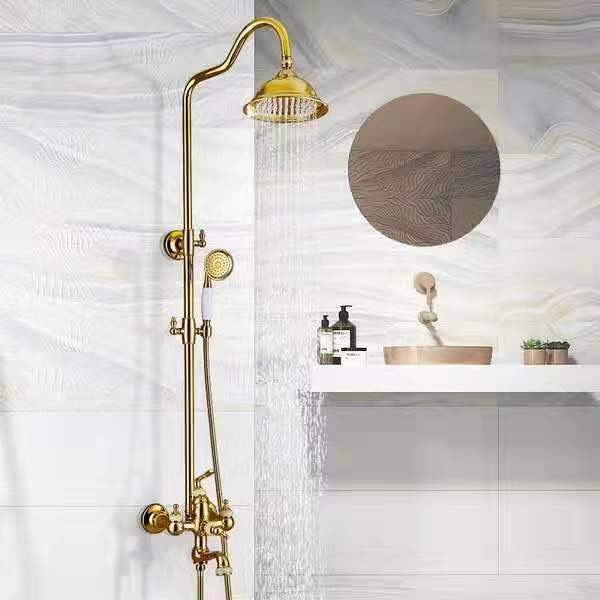 Sen cây tắm mạ vàng được thiết kế đồng bộ và tích hợp đầy đủ chức năng từ cơ bản đến nâng cao