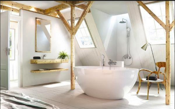 Sen vòi âm tường mang đến không gian phòng tắm hiện đại