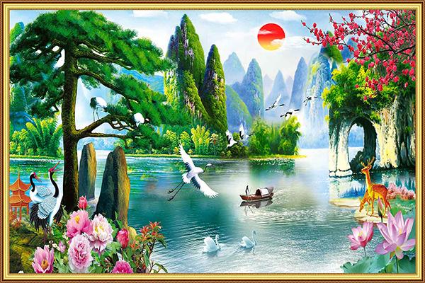Gạch tranh rồng Anh Khang ANK-A400