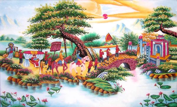 Gạch tranh rồng Anh Khang ANK-DQ06