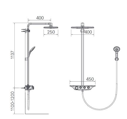 Sen cây tắm Inax BFV-655T