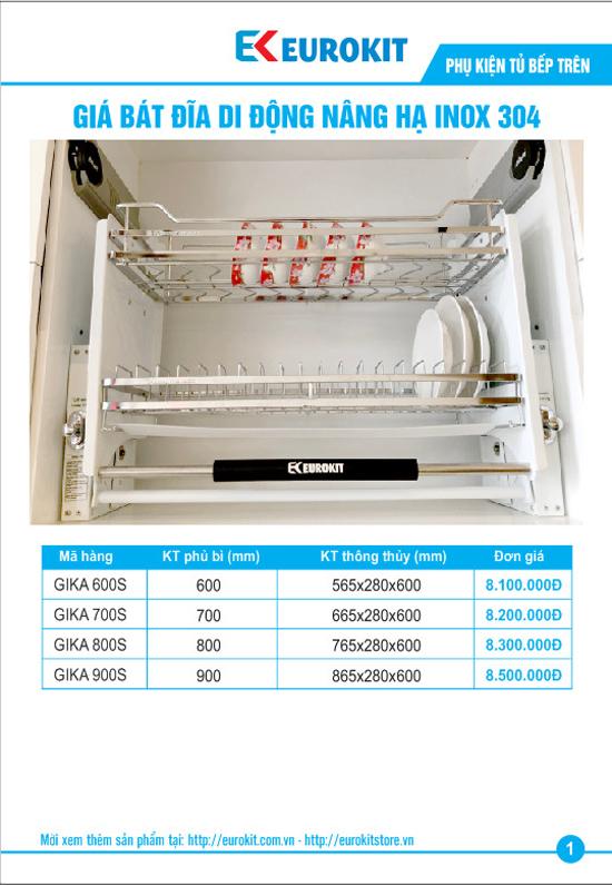 Giá bát đĩa nâng hạ Eurokit GIKA 600S