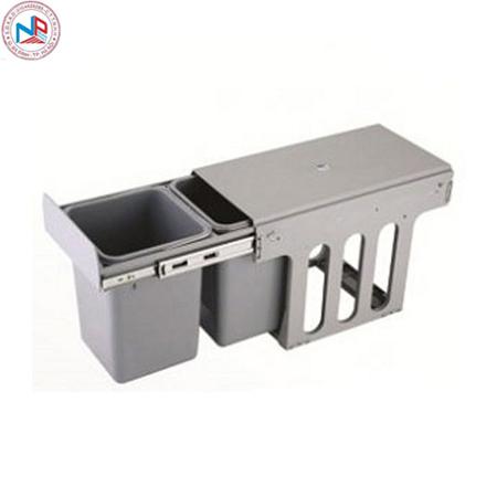 Thùng rác đôi âm tủ Eurokit HF30A