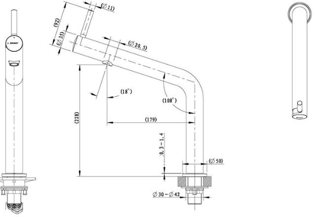 Vòi rửa bát Bravat F7354388CP nóng lạnh