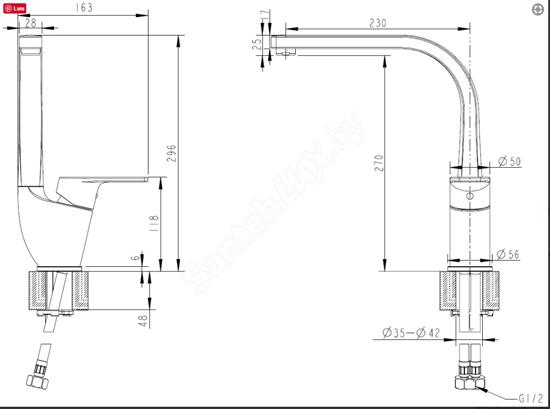 Vòi rửa bát Bravat F75299C-2 nóng lạnh