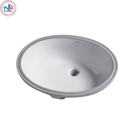 Chậu rửa lavabo Bravat C22102W-ENG âm bàn
