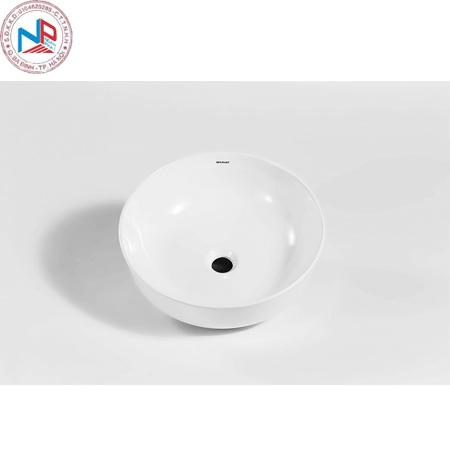 Chậu rửa lavabo Bravat C22262W tròn đặt bàn