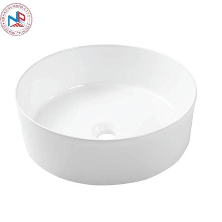 Chậu rửa lavabo Bravat C22284W-ENG tròn đặt bàn