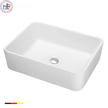 Chậu rửa lavabo Bravat C22328W-ENG vuông đặt bàn