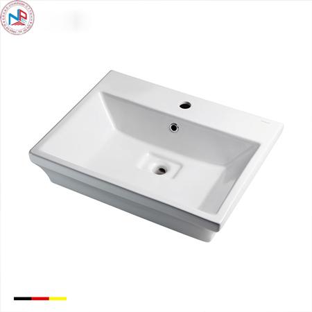 Chậu rửa lavabo Bravat C22192W-1-ENG vuông đặt bàn