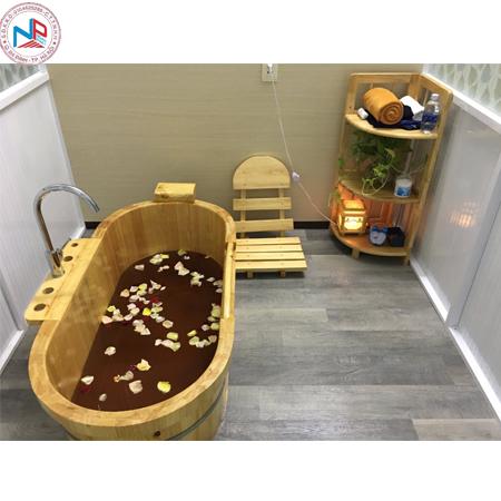 Bồn tắm gỗ pơ mu 04 (đặt theo yêu cầu )