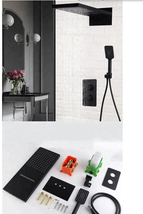 Sen tắm âm tường màu đen MK-16-031