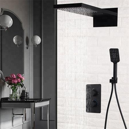 Sen tắm âm tường màu đen MK-91066B
