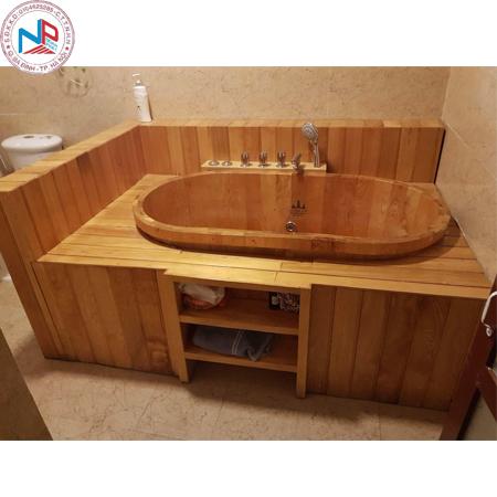 Bồn tắm gỗ pơ mu 05 (đặt theo yêu cầu )