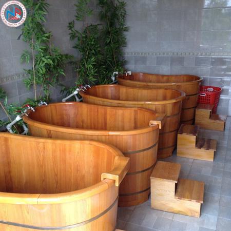 Bồn tắm gỗ pơ mu 06 (đặt theo yêu cầu )