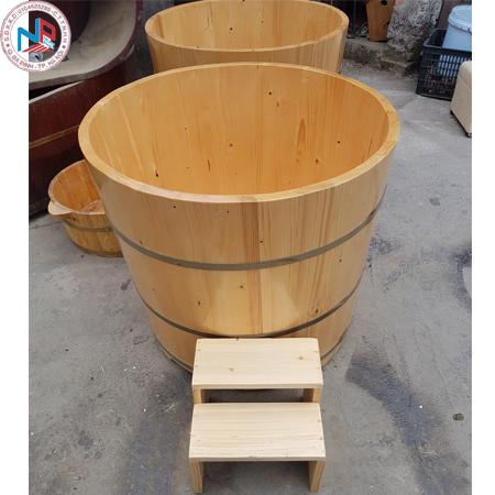 Bồn tắm gỗ Pơ Mu Ovan đường kính 800mm