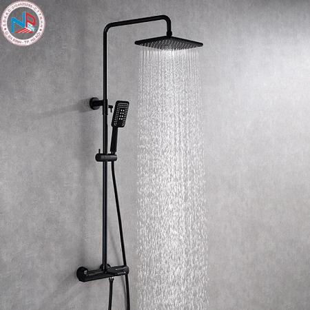 Sen cây tắm nhiệt độ vuông MK-1445139-MT màu đen