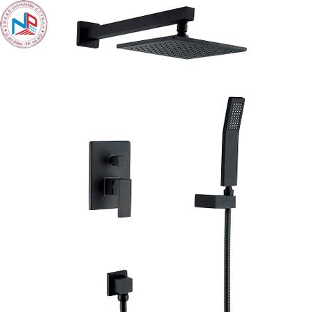 Sen tắm âm tường màu đen Miken MK 8015