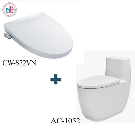 Bồn cầu Inax AC-1052 + CW-S32VN một khối