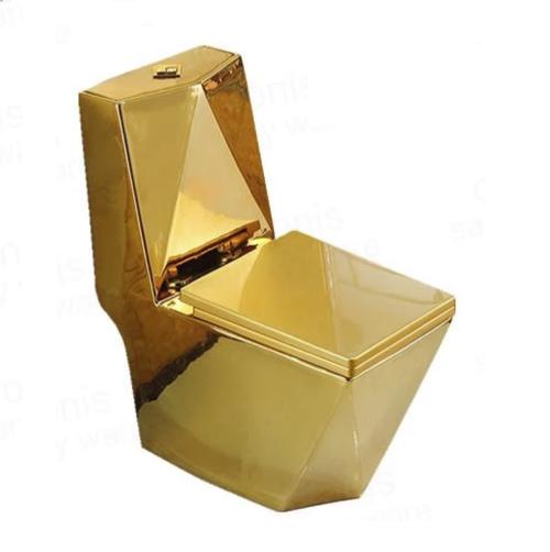 Bồn cầu nghệ thuật mạ vàng V