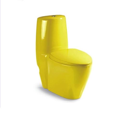 Bồn cầu két liền màu vàng HM-2019Y