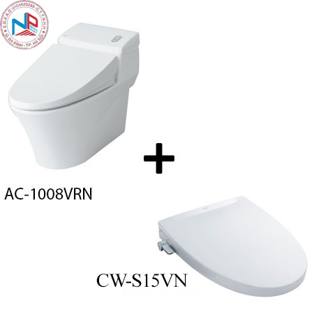 Bồn cầu Inax AC-1008R kèm nắp rửa thông minh CW-S15VN