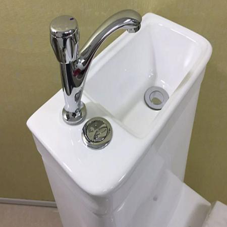 Bồn cầu kết hợp chậu lavabo rửa mặt Miken MK-0882