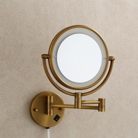 Gương cạo râu kèm đèn Led Đồng nguyên bản 5228