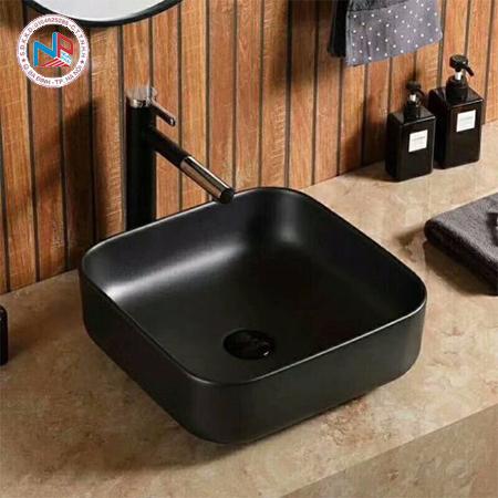 Chậu rửa mặt lavabo màu đen HCG 214