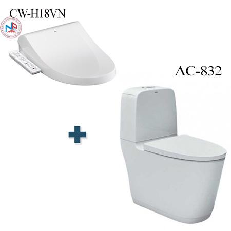 Bồn cầu nắp rửa điện tử Inax AC-832 + CW-H18VN
