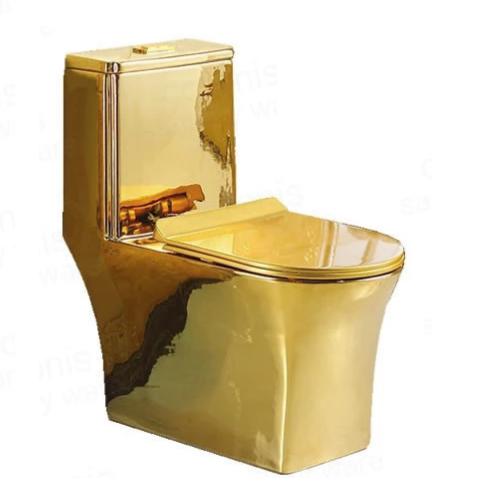 Bồn cầu nghệ thuật mạ vàng 6074G