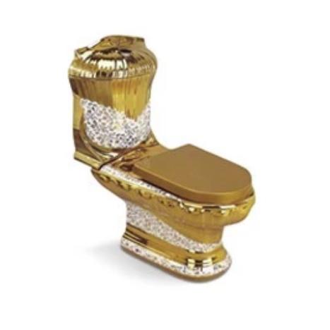 Bồn cầu nghệ thuật mạ vàng G987