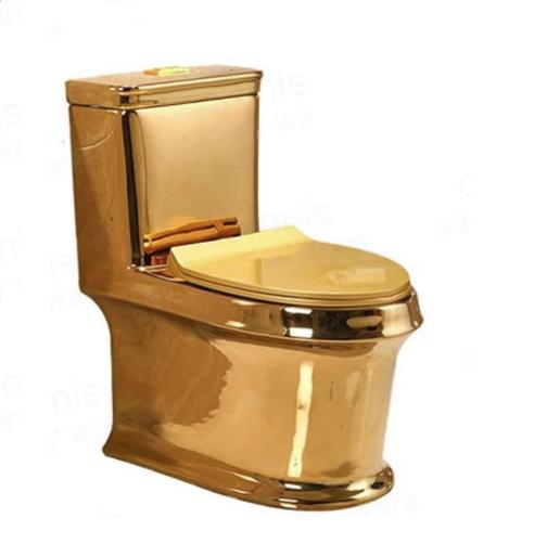 Bồn cầu nghệ thuật mạ vàng 6816