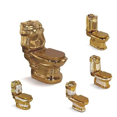 Bồn cầu nghệ thuật mạ vàng G995