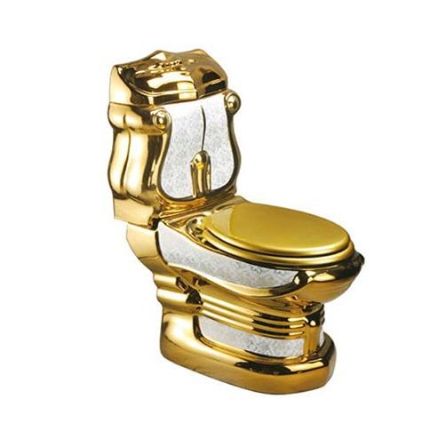 Bồn cầu nghệ thuật mạ vàng G989