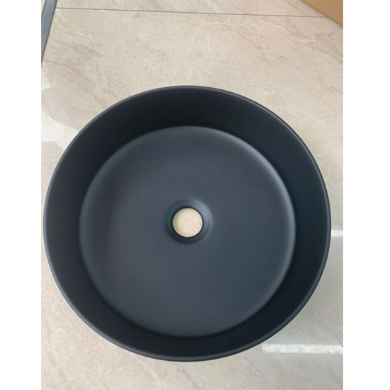 Chậu rửa lavabo màu đen nghệ thuật C23-CFC